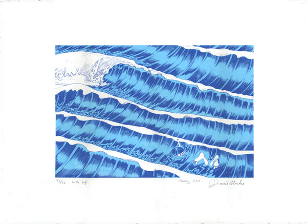 In the surf screen print
