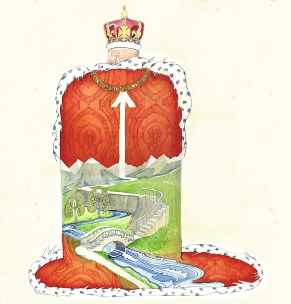 Watercolour illustration of The Way of the king