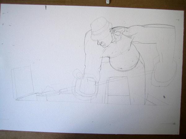 grave digger drawing