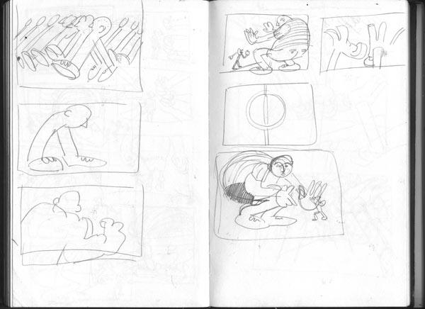 sketch  of book idea scamps