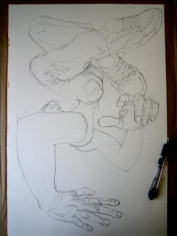 Break dancer drawing