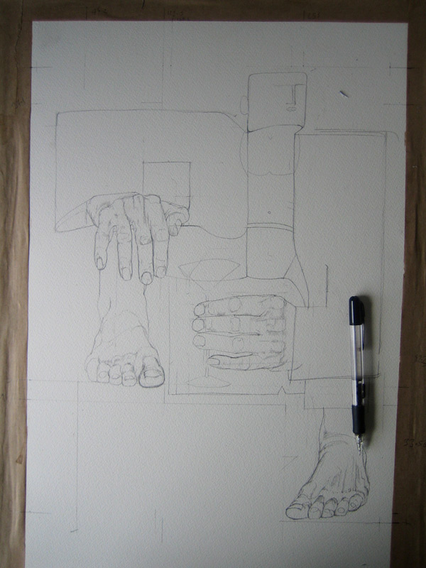 playboy drawing in progress