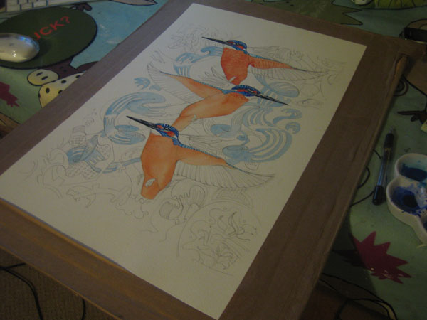 kingfisher reapet design in progress