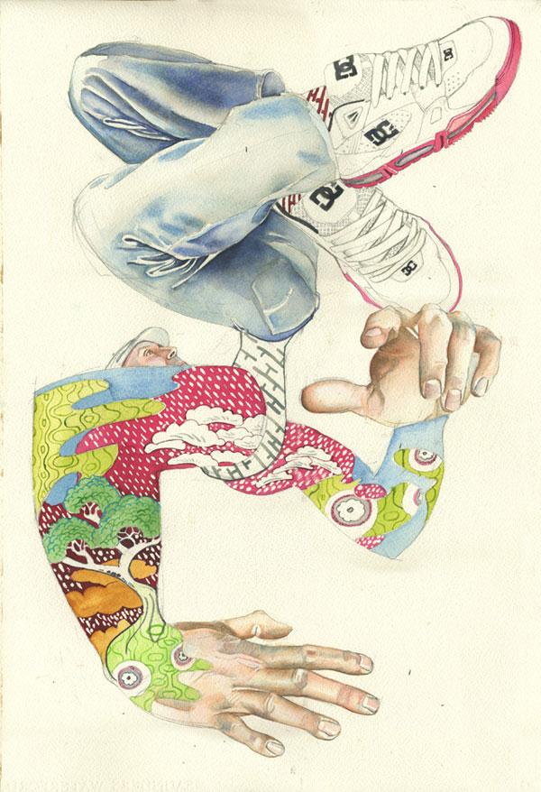 Break dancer illustration