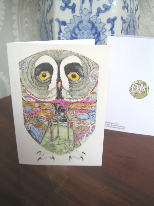 Great Great owl card- blank inside