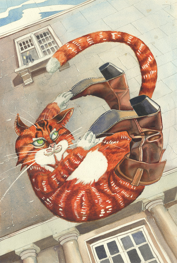 "Illustration ""puss in boots"" The bloody chamber by Angela Carter"