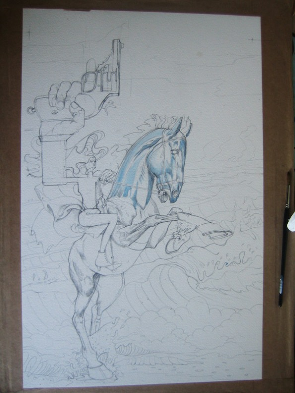 "Illustration fro ""The Bloody Chamber"" in progress"