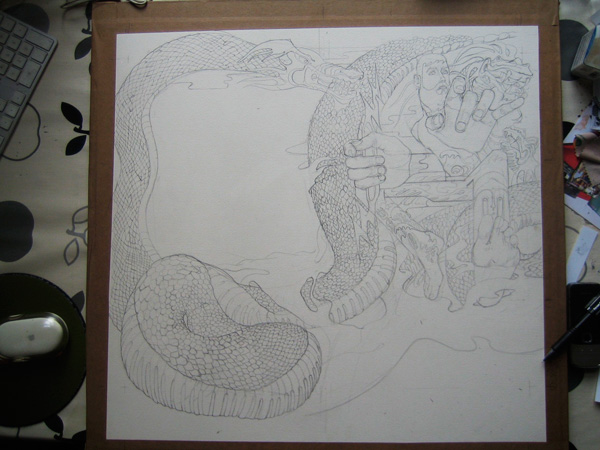 line drawing for thecover hesiod