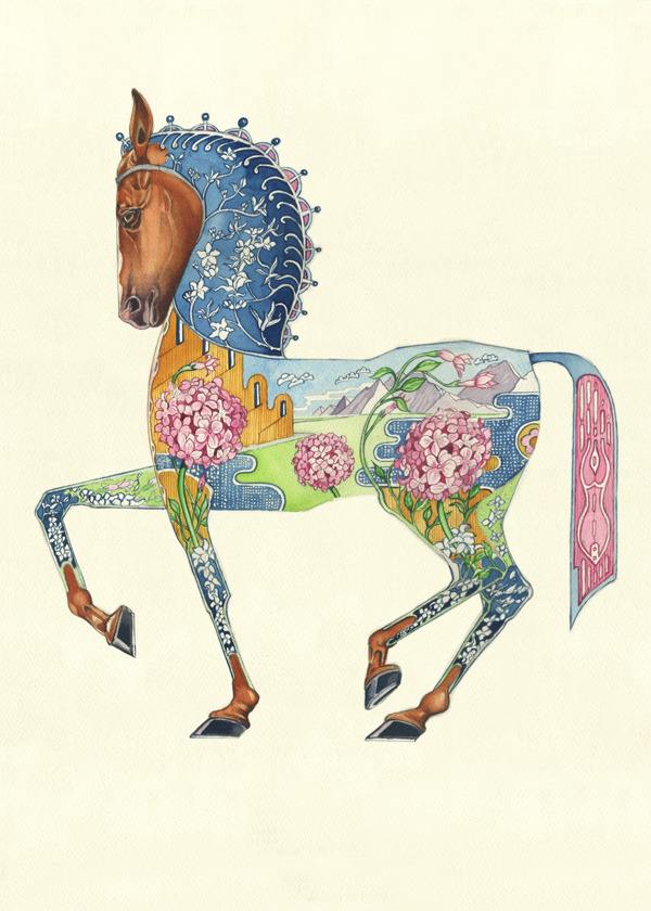 Horse greetings card The DM Collection
