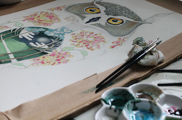 long-eared-owl-painting-in-progress
