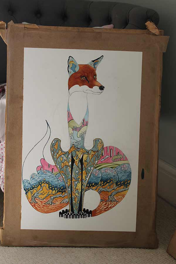 Fox watercolour Painting -Daniel Mackie